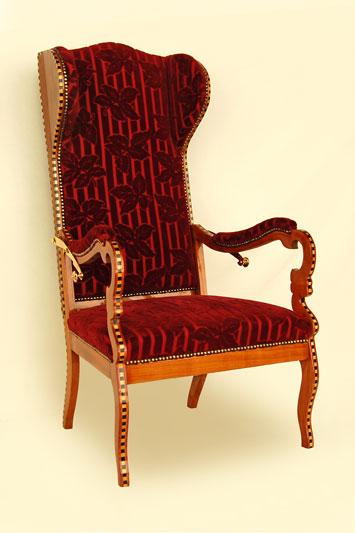 polsterei antikm bel herodek ohrensessel. Black Bedroom Furniture Sets. Home Design Ideas