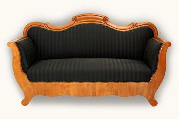 polsterei antikm bel herodek biedermeier sofa. Black Bedroom Furniture Sets. Home Design Ideas